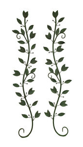 Scratch amp; Dent Set of 2 Green Leaves on Branches Metal Wall Sculptures $48.98