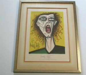 BERNARD BUFFET LITHOGRAPH HAND PENCIL SIGNED RARE ABSTRACT EXPRESSIONISM MODERN $2880.00