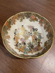 Antique Japanese Satsuma Bowl Early Meiji Period NO Reserve