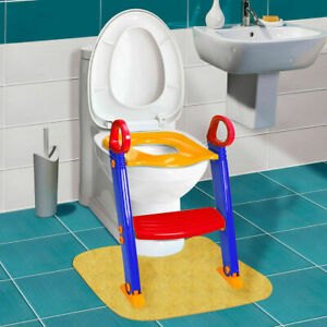 Baby Trainer Toilet Potty Seat Chair Kids Toddler Ladder Step Up Training Stool $21.99