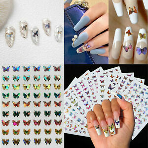 3D Nail Stickers Art Butterfly Style Decals Adhesive DIY Designs Decor US $3.49