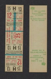 1956 Ringling Brothers Barnum And Bailey Circus Unused Ticket Near Perfect $9.75