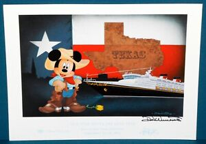 Signed Don quot;Duckyquot; Williams DCL quot;Our Star Meets the Lone Starquot; Lithograph w COA $150.00