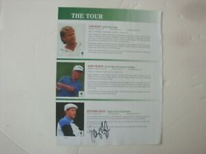 Browning Nagle New York Jets Signed Cut Page From 1998 CPT Golf Program $8.99