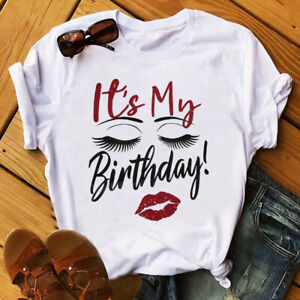 Its My Birthday Sexy Ladys Face Sleeping T shirt Happy Birthday Shirt Gift USA $22.99