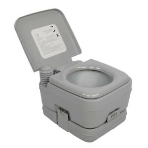 Portable Toilet 2.8 Gallon 10L Flush Outdoor Indoor Camping Toilet Potty Travel $59.55