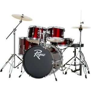 Rogue 5 Piece Complete Drum Set Wine Red $297.49