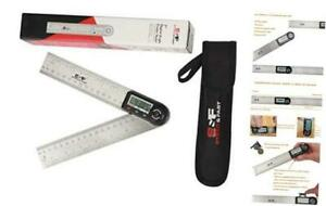 Digital Angle Finder Tool 7 Inch 180 mm Stainless Digital Angle Ruler 7 Inch $30.38