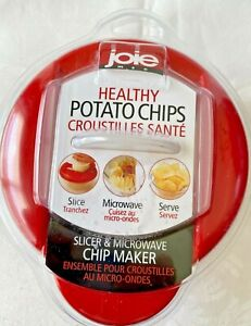 Joie Healthy Microwave Potato Chip Maker Slicer Cooker Red NEW SEALED NIP