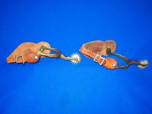 PAIR OF LATE 1800S TO EARLY 1900S BUERMANN LADIES LEG DESIGN SPURS