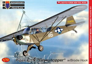 KP Models 1 72 American PIPER L 4W GRASSHOPPER with Brodie Hook