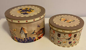GRACEFUL GARDEN TWO NESTING SEWING BOXES by REVELATIONS #22334 $20.00