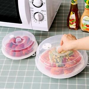 Plastic Microwave Plate Cover Clear Steam Vent Splatter Lid Food Dish Kitchen