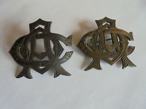 Antique Military Academy or Army Brass Pinback Badge and Hat Badge $24.99