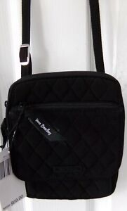 NWT NEW AUTHENTIC VERA BRADLEY MINI HIPSTER BAG MICROFIBER BLACK $69.00 $22.99