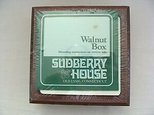 Sudberry House Walnut Square Wood Box For Needlework Display New Sealed $39.99