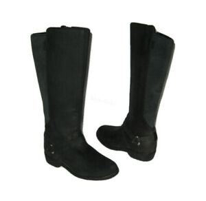 TEVA DE LA VINA DOS TALL WATERPROOF BLACK LEATHER DELAVINA BOOTS WOMENS 5 $29.99