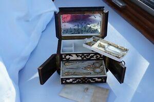 Antique French Gilded Silver Sewing Set $950.00