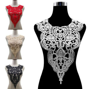 Lace Woven Embroidered Applique Neckline Hollow Neck Collar Trim Dress Sewing $2.95
