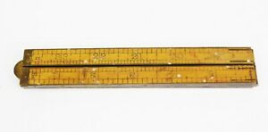Antique Lufkin No. 781 Folding 24quot; Collapsible Boxwood amp; Brass Ruler $14.99