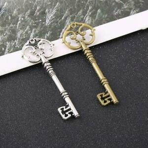 Retro Keys Large Antique Bronze Gold Silver Pendants Home Keychains DIY I4M5 $0.99