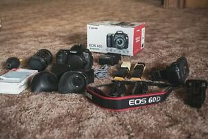Canon 60D Kit with 18 135mm Zoom Lens and 5 batteries