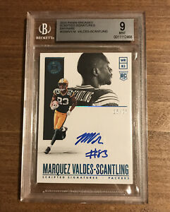 2018 MARQUEZ VALDES SCANTLING RC BGS 9 ENCASED SCRIPTED SIGNATURES # 25 PACKERS $60.00