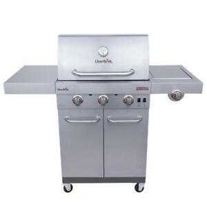 Char Broil Commercial Stainless Steel 3 Burner Liquid Propane and Natural Gas In