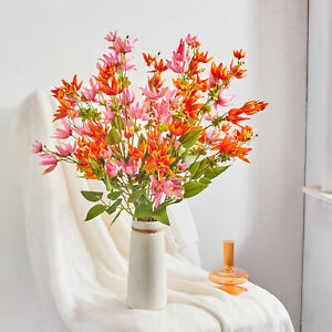 Artificial Flower Eco friendly Fadeless Plastic Fake Flower Bouquet for Home $9.39