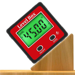 LCD Magnetic Digital Protractor Inclinometer Level Box Angle Finder Bevel Box US $14.99
