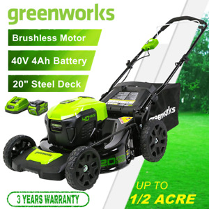 GreenWorks 40V 20#x27;#x27; Cordless Lawn Mower Brushless with 4Ah Battery and Charger $370.99