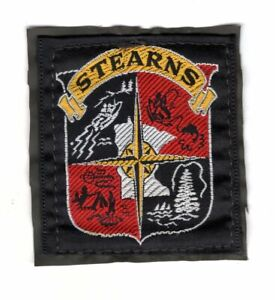 STEARNS Outdoor Sporting Goods EMBROIDERED PATCH Vintage