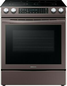 Samsung NE58R9431ST 30 Inch Slide in Electric Range with 5 Element Flexible Cook