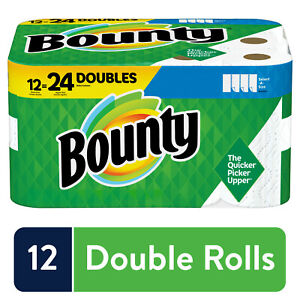 Bounty Select A Size Paper Towels White 12 Double Rolls