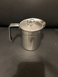 ILSA Stainless Steel Milk Frothing Pitcher With Lid MADE IN ITALY INOX 18 10