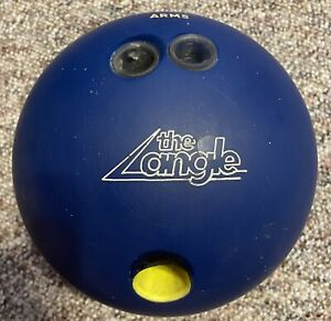 """AMF """"The Angle"""" 15 lb 12 oz Vintage Blue Bowling Ball Drilled $70.00"""
