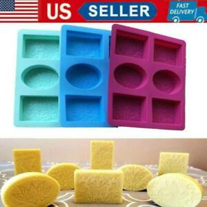 Silicone Baking Mould Tray For Craft Cavity Rectangle Soap Mold Portable US $11.98