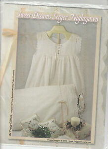 Sweet Dreams Serger Nightgown Pattern French Sewing Pillowcase UNCUT $9.99