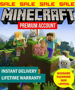Minecraft Java Premium Edition PC and MAC Code With Warranty 100% worked $7.99