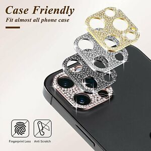For iPhone 11 12 Pro Max Bling Diamond Camera Lens Protector Glitter Case Cover $3.49