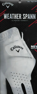 CALLAWAY GOLF GLOVE MENS LARGE REG RIGHT WHITE WEATHER SPANN PERFORMANCE NEW NWT $13.27