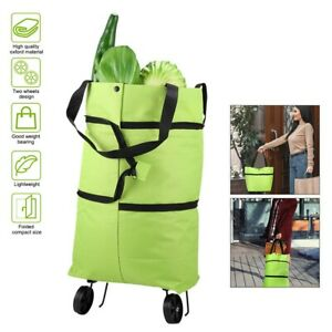 Grocery Shopping Cart Foldable Shopping Trolley Tote Bag Extendable Foldable US $12.59