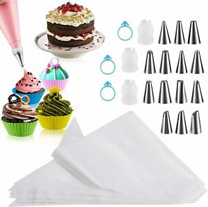Piping Bags 100PCS Firstake 12 Inch Premium Pastry Bags and Tips Sets