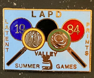 1984 LAPD Lapel Pin Latent Print Summer Valley Games LOT of 50 $49.99