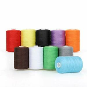 10 PCS Sewing Threads for Sewing Machine1000 Yards Mixed Cotton Threads 10 Co... $18.44
