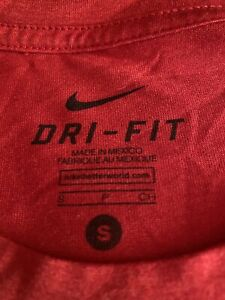 Final Price Nike Dri Fit Shirt Small Red Unisex $17.99