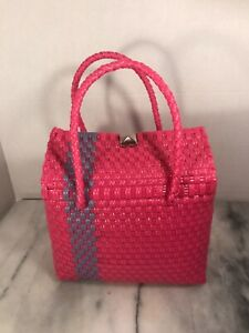 Recycled Plastic Small Pink Purse
