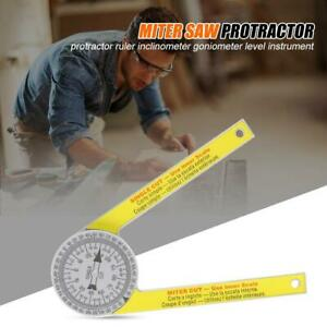 Portable Miter Saw Protractor Pro Site Series T4 Angle Finder Arm New $6.69