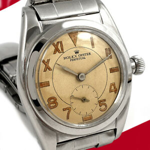 RARE VINTAGE ROLEX OYSTER AUTOMATIC BUBBLEBACK WATCH SUB SECONDS DIAL WORKING $4500.00