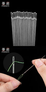Large Eye Sharp Sewing Needles Stainless Steel Hand Quilting Needles $3.06